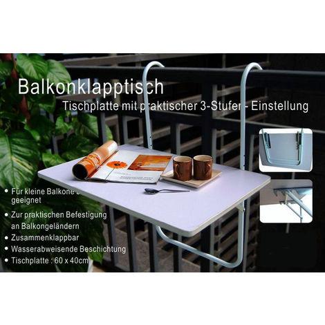 Balkontisch klappbar - platzsparend abklappbar