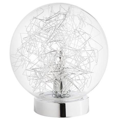 Et Ø18cm H20cmAmpoule 28w E14 Transparent Filament Max Lampe Gris Verre Métallique Ball Tactile xedBoCr