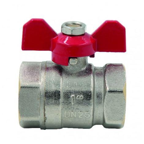 Ball valve FF butterfly handle PN 40 3/8?