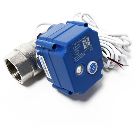 Ball valve for wastewater in motorhomes and caravans DC 5 V