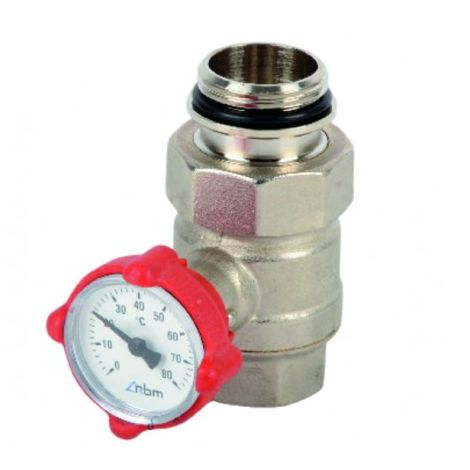 Ball valve, knob operated with integrated thermometer 1? - RBM : 0670690