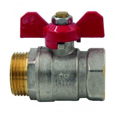 Ball valve MF butterfly handle PN 40 3/8?