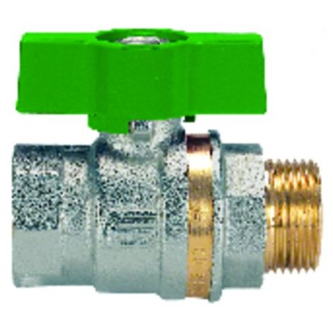 Ball valve MF T-handle PN 40 NF 3/8? - EFFEBI SPA : 0825V403NF