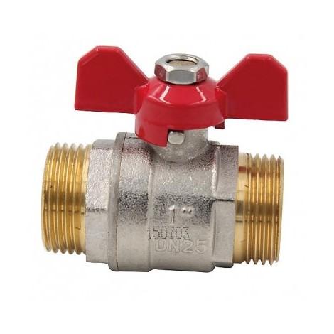 Ball valve MM butterfly handle PN 40 3/4?