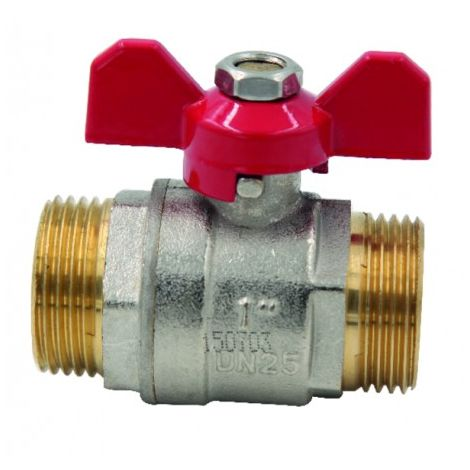 Ball valve MM butterfly handle PN 40 3/8?