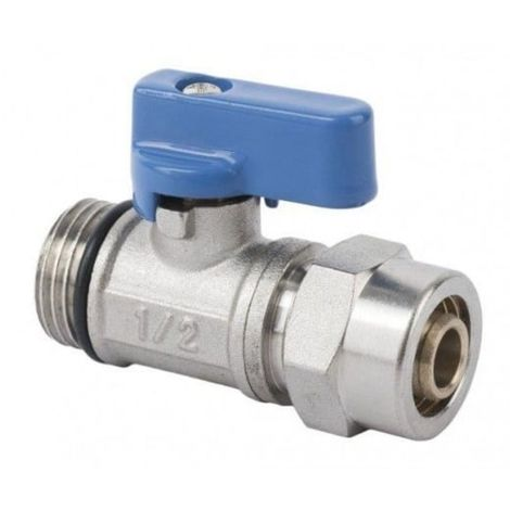Ball valve with gland pex 1/2 blue mini with,