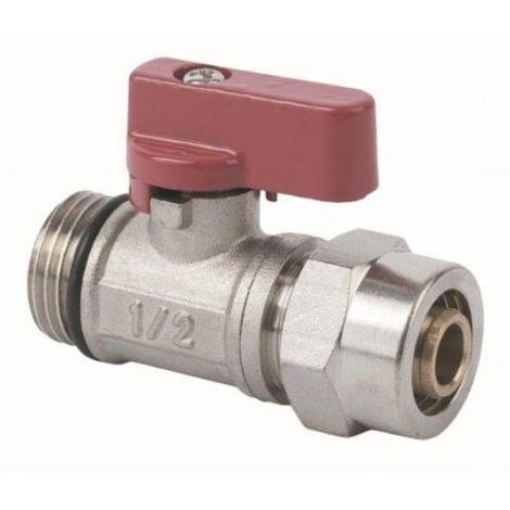 Ball valve with gland pex 1 / 2x16 red mini
