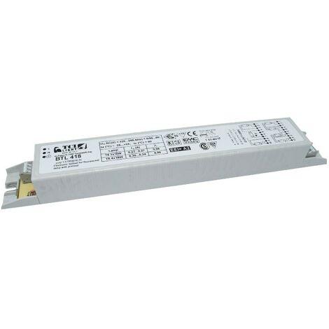 Ballast électronique TCI BTL418 linéaire multilamp 4X18W T8 137956/4LN