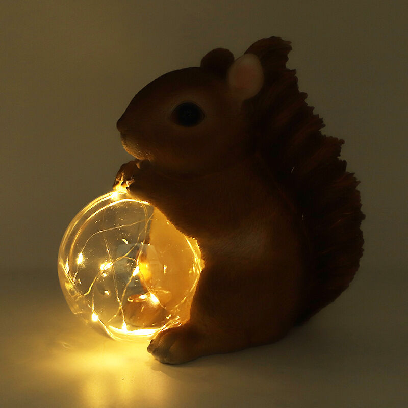 Balle d'animal en résine de simulation alimentée par la lumière solaire, hamster mignon