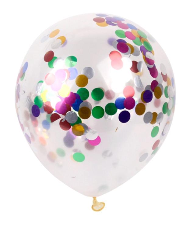 Ballon De 12 Pouces, Decoration De Mariage De Fete D'Anniversaire, Paillettes Multicolores, 1Pc