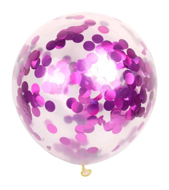 Ballon De 12 Pouces, Decoration De Mariage De Fete D'Anniversaire, Paillettes Roses, 1Pc