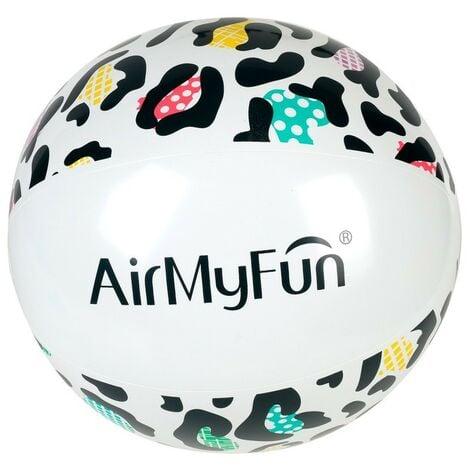 Ballon Gonflable ø28 cm pour Piscine & Plage, Accessoire d'Eau - Design Léopard - Multicolore