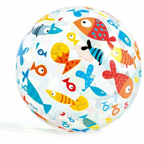 Ballon gonflable de piscine imprimé INTEX - 51 cm