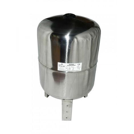 Ballon INOX surpresseur 50l vertical, cuve, réservoir surpresseur à vessie