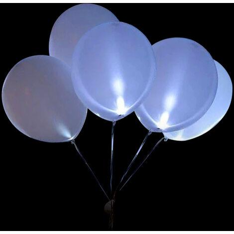 Ballon Lumineux Led, Ballon Clignotant, Ballon Lumineux, 5 Pieces Dans Un Pack, Lumiere Blanche