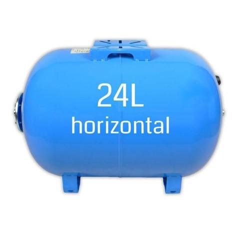 Ballon surpresseur 24l horizontal, cuve, réservoir surpresseur
