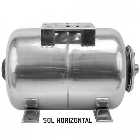 Ballon surpresseur 50l horizontal INOX, cuve, réservoir surpresseur