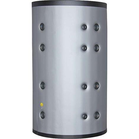 Ballon-tampon 2000 litres avec 2 échangeurs de chaleur isolation gris argenté