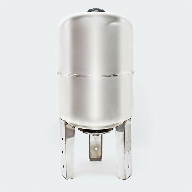 Le Poisson Qui Jardine - Ballon vertical ou cuve à vessie INOX pour installations sanitaires : 50 litres