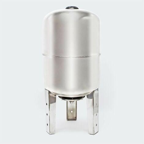 Ballon vertical ou cuve à vessie INOX pour installations sanitaires : 50 litres
