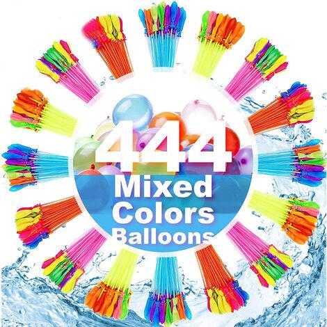Ballons à eau pour enfants filles garçons ballons ensemble jeux de fête remplissage rapide 444 ballons pour piscine en plein air amusements d'été