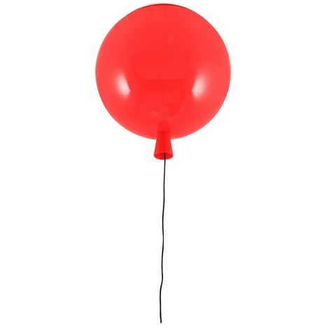 Balloon Round Ceiling Lamp - Red 30 x 30 x 33 cm, 1xMax 24W, E27