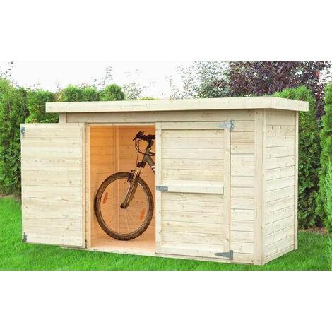 Baltic - Abri à vélos en bois massif 14 mm 2,02 m² - CYKEL