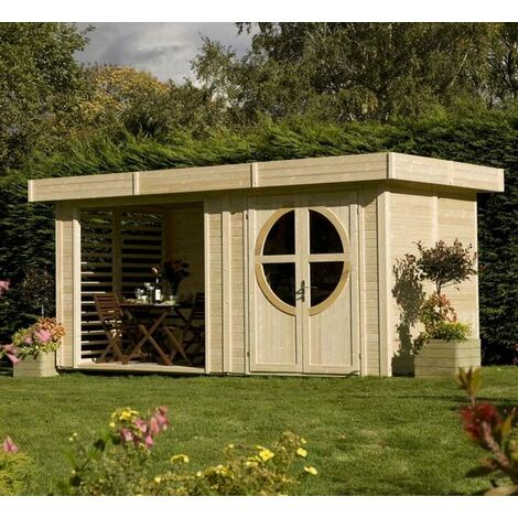 Baltic - Abri de jardin en bois Design 19 mm 9,28 m2 - SUMMERHOUSERELAX