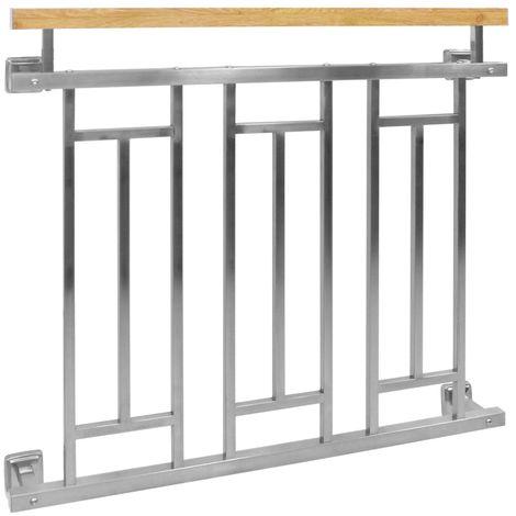 Balustrade française de balcon barrière fenêtre 100 x 90 cm acier inoxydable