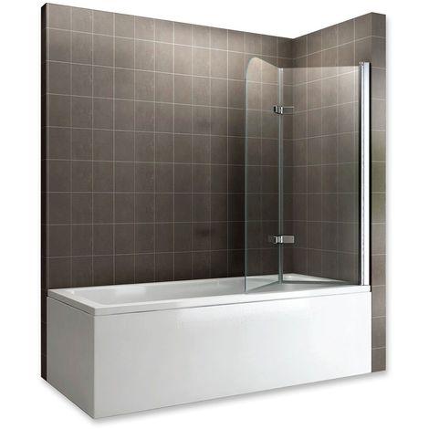 BALY Pare-baignoire rabattable en verre 6 mm