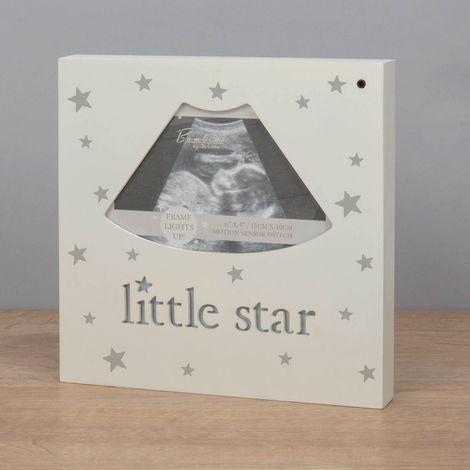 "Bambino 'Light Up' MDF Scan Photo Frame 'Little Star' 4x3"""