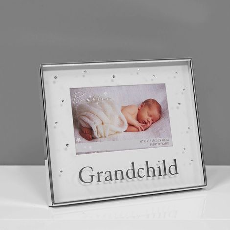 Bambino Silverplated Photo Frame - Grandchild 6' x 4'