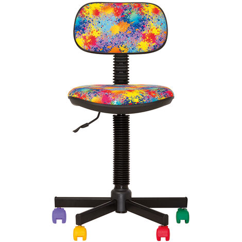 """main image of """"Bambo splash- chaise de bureau pour enfant. Tissu multicolore."""""""