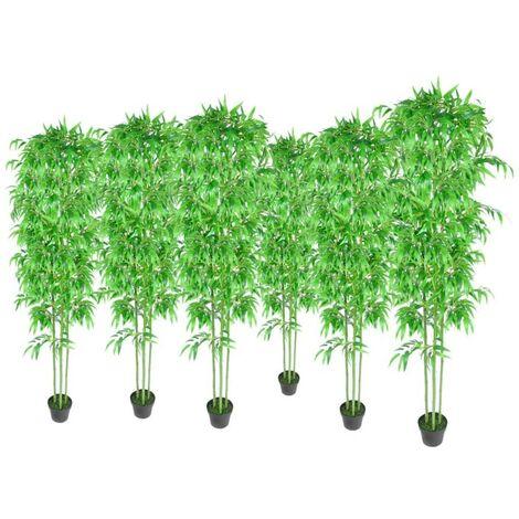Bamboo Artificial Plants Home Decor Set of 6