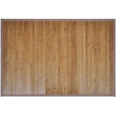 "main image of ""1/2 x Bamboo Bath Mats 40 x 50/60 x 90 cm Brown Shower Mats Bath Rugs Accent Rugs Pedestal Mats Non-Slip Toilet Bathroom Flooring Rug Carpet"""