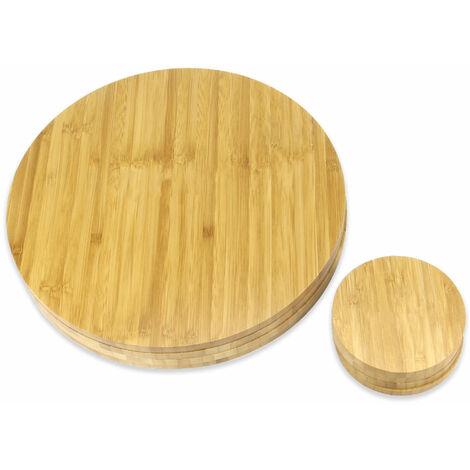 "main image of ""Bamboo Circle Placemats & Coasters   M&W - Brown"""