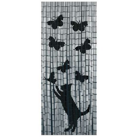 Bamboo curtain Cat and butterfly WENKO