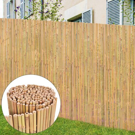 Bamboo Fence 300x125 cm - Brown