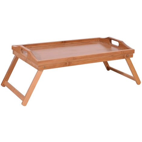 Bamboo Foldable Breakfast Table, Laptop Desk, Bed Table, Serving