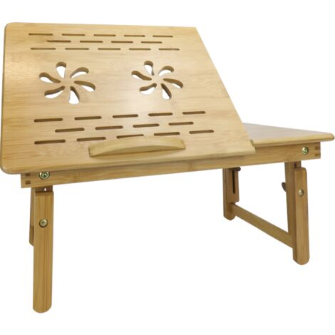 Bamboo Folding Laptop Stand   M&W