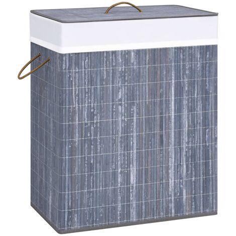 Bamboo Laundry Basket Grey 100 L - Grey