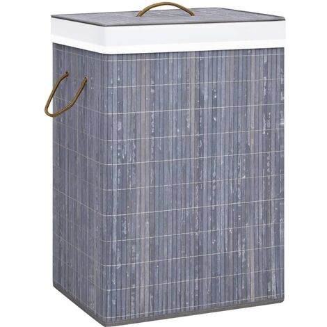 Bamboo Laundry Basket Grey 72 L - Grey
