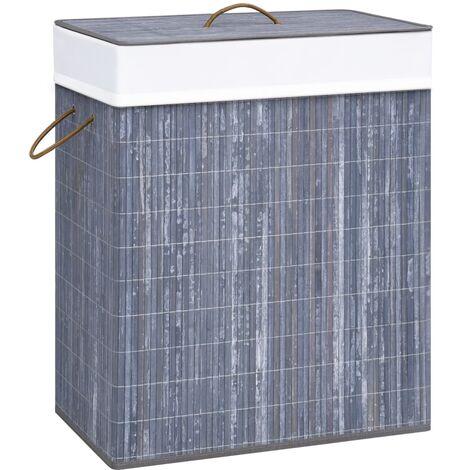 Bamboo Laundry Basket Grey 83 L