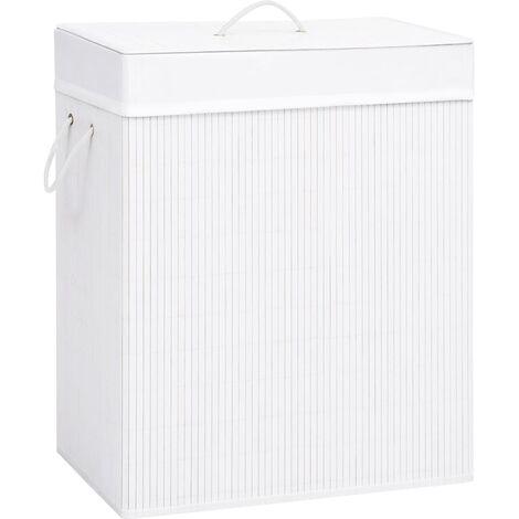 Bamboo Laundry Basket White 100 L