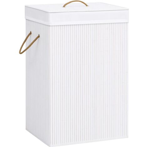 Bamboo Laundry Basket White