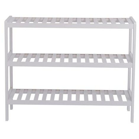 """main image of """"Bamboo Shoe Rack Bench, Shoe Storage, 3-Layer Multi-Functional Cell Shelf, Can Be Used For Entrance Corridor, Bathroom, Living Room And Corridor 70 * 25 * 55 - Different colours"""""""