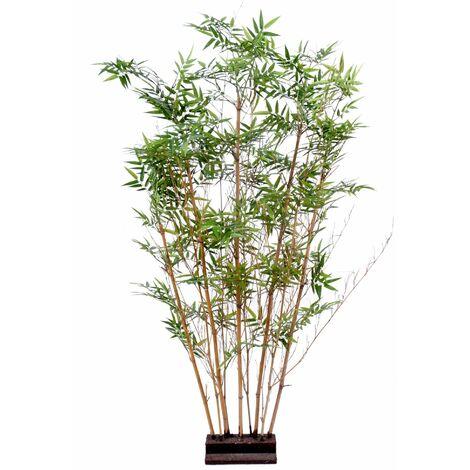 Bambou artificiel ORIENTAL HAIE 2 (150 cm) Haut de Gamme Bambou ZEN Plantes artificielles - VERT