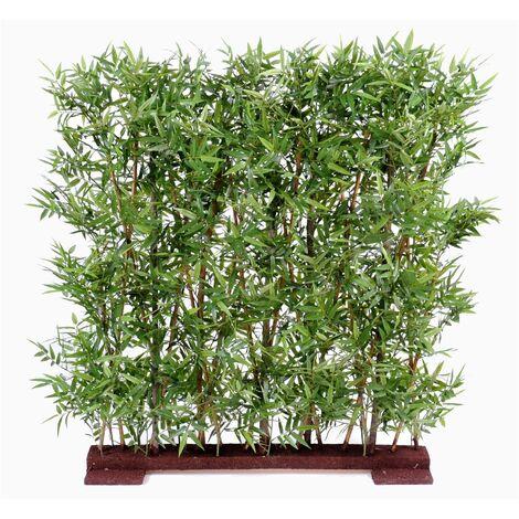Bambou artificiel ORIENTAL HAIE DENSE (110 cm) Haut de Gamme Bambou ZEN Plantes artificielles - VERT