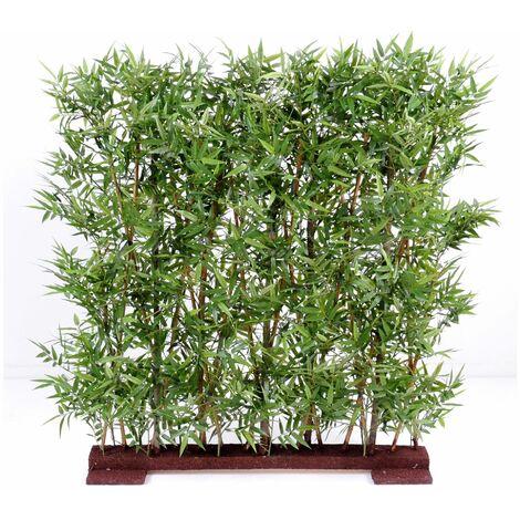 Bambou artificiel ORIENTAL HAIE DENSE (150 cm) Haut de Gamme Bambou ZEN Plantes artificielles - VERT