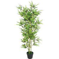 Bambù Artificiale con Vaso 120 cm Verde